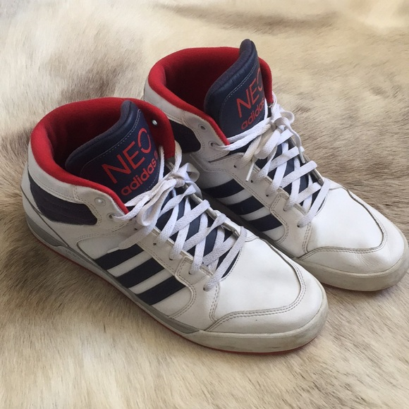 quality design ed2a4 421ef adidas Other - Adidas Neo high top sneakers men 13 white red blue